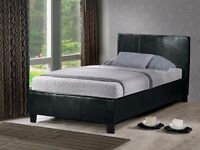 BRAND NEW- Single Leather Bed semi orthopaedic Deep Quilted Mattress - Double and Kingsize Available
