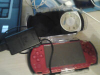 PSP with protective case and charger + snowboard game
