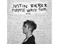 JUSTIN BIEBER 3x STANDING TICKETS - TUESDAY 18th OCTOBER BIRMINGHAM