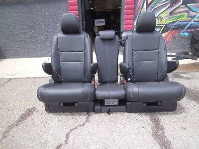 2015 2016 2017  Toyota Sienna second row seats Black Leather