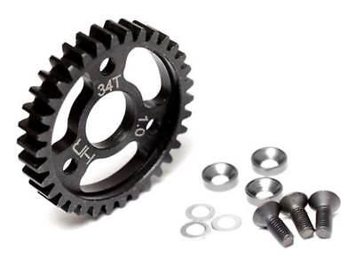 Hot Racing Steel Spur Gear 34T 1.0 Mod for Traxxas 1/10 Revo 3.3/Slayer Pro 4X4