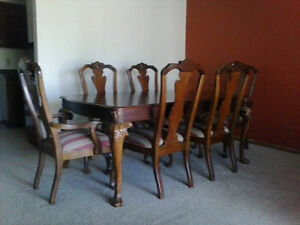details about thomasville cherry dining room set table chairs