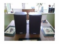 Pair of mission 731 speakers with wall brackets in excellent condition with cable
