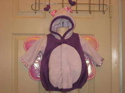 Old Navy Butterfly Costume Purple Dress Up Halloween Sz 6 12 Month TOP ONLY NWT