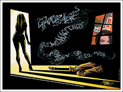 GARBAGE 1998 Original Cain's Ballroom Tulsa Concert Poster Signed
