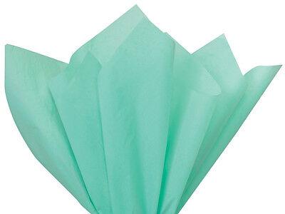 100 Sheets Aqua Gift Wrap Pom Pom Tissue Paper 15x20