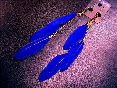 Long tassel Feather Earrings For Women Girls Hot thanksgiving and X'mas sale](Tassels For Sale)