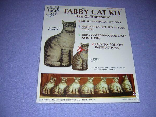 The Toy Works Sew It Yourself Tabby Cat Draftstopper Kit #211 Unopened