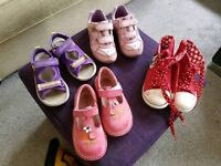 6 pairs of shoes size c8 and wellies