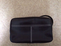 Brown Leather Hackett Wash Bag