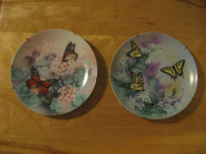 Bradex ( Lena Liu ) Hand Painted Fine China Plates / Butterflies West Island Greater Montréal image 2