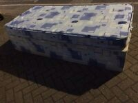 Single divan bed with mattress-free delivery