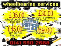 WHEELBEARING SERVICES CAR REPAIRS SERVICING AND MOT GLASGOW