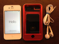 iPhone 4S 32GB White in Excellent Condition with case