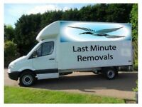 MAN AND VAN SHORT NOTICE REMOVALS OFFICE REMOVALS FURNITURE LARGE LUTON VAN