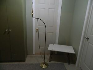 "Gooseneck Floor Tri-Lamp (66""H) with no shade"