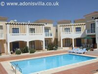 Holiday home with pool to rent in Pafos Cyprus sleeps 4 self catering