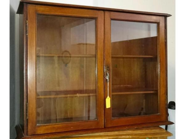 Antique Wall Mounted Display Cabinet