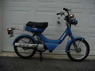 SUZUKI FA50 BLUE GAS MOPED POCKET MINI BIKE MINI CHOPPER MOPED SCOOTER GO  KART