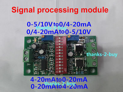 Current / Voltage Signal Converter Module 4-20mA to 0-5V/10V 0-5V/10V to - Current To Voltage Converter
