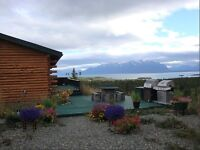 Atlin VIEW home - log home 2 km to town