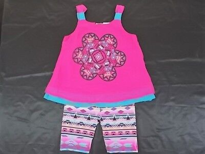 Toddler Girls Pogo Club 2Pc Magenta Duel Layer Tank   Shorts Set Size 2T   4