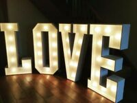 Wedding Light Up Letters for your venue - for hire - £80.00