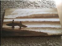 Surfer printed canvas
