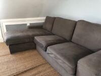 Comfortable large L sofa