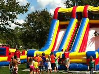 20' Double slide accelerator inflatable bouncy castle