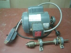 .5 HP motor, switch & shaft w drill chuck assembly