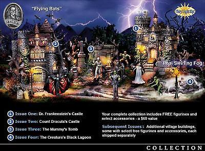 COMPLETE Hawthorne Village Halloween Universal Monster SET Trains Accessory Sets](Halloween University Village)