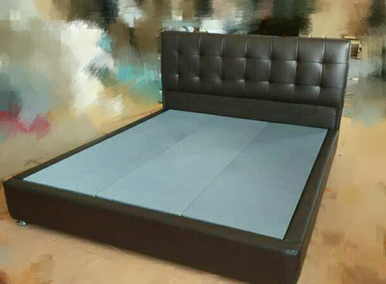 Brand new high quality leather bed queen size/king size metal and
