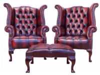 WANTED!! Leather CHESTERFIELDS•sofas•club chairs•WINGBACK•footstools•Slipper chairs•settee £££