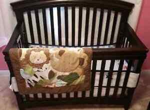 Shermag Crib with Mattress and bedding set