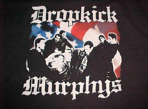 Dropkick Murphys Band American Celtic Punk Adult Unisex Black White Hoodie 2XL
