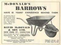 1953 David Mcdonald Hamilton Barrows Ad -  - ebay.co.uk