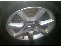 """Mercedes Benz W210 W204 W202 W203 16"""" 7 spoke Alloy wheel set with tyres"""