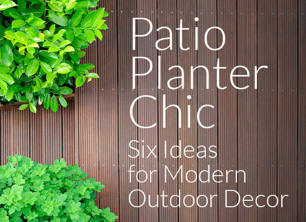 . Patio Planter Chic  Six Ideas for Modern Outdoor Decor    eBay