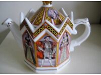 Henry V111 Novelty Teapot Depicting His Six Wives.