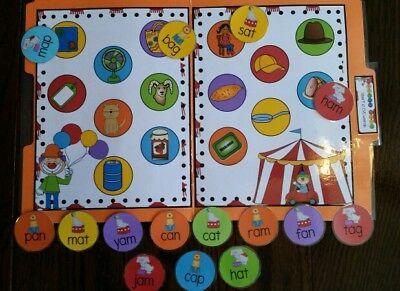 Teacher Made Short A CVC words Phonics literacy Center File Folder Game Resource