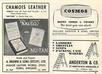 1953 A Brown Sons Otley Manor Leather Works Kenyon Dukinfield Ad -  - ebay.co.uk
