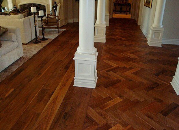 Herringbone Style Mahogany Parquet Flooring 20 Sq M Free
