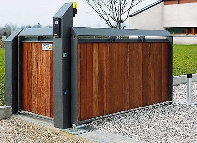 MODERN IRON WOODEN  DRIVEWAY  GATE MADE TO MEASURE