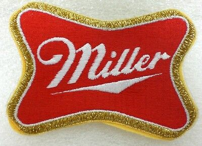"""Miller Brewery Patch  Pinback Pin On   (2½"""" X 3½)       NEW"""
