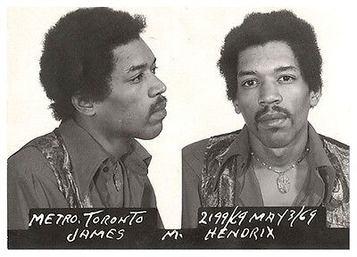 Jimi Hendrix Mug Shot Glossy Poster Picture Photo Mugshot Jimmy Guitar Song 1324