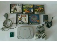 SONY PS1 SLIMLINE COMP 5 BXD GAMES ALL OFFICIAL!!