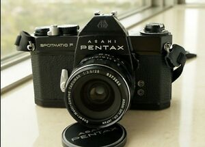 Pentax Spotmatic F + M42 Super-Multi-Coated Takumar 55mm lens