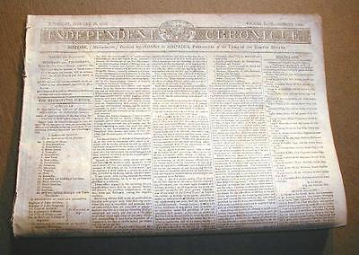 Rare Original War Of 1812 Newspaper Dated Between 1812   1815 Over 200 Years Old