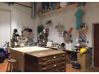 Artist studio desk space in huge creative studio, Hackney downs studios